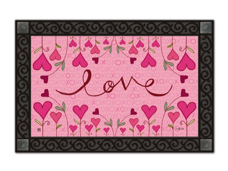 Amazon.com : Hugs and Kisses Doormat Valentine's Day Indoor ...