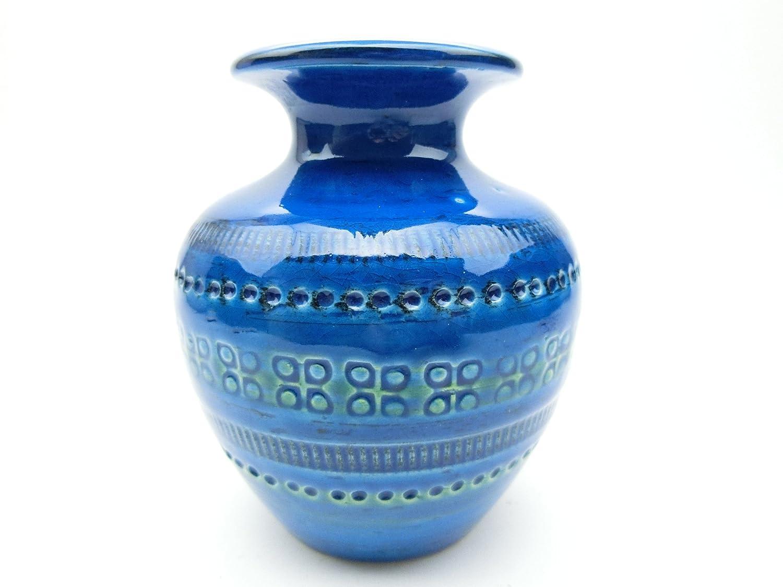 ビトッシ リミニブルー イタリア陶器 花瓶 F80 B073QM9XHZ
