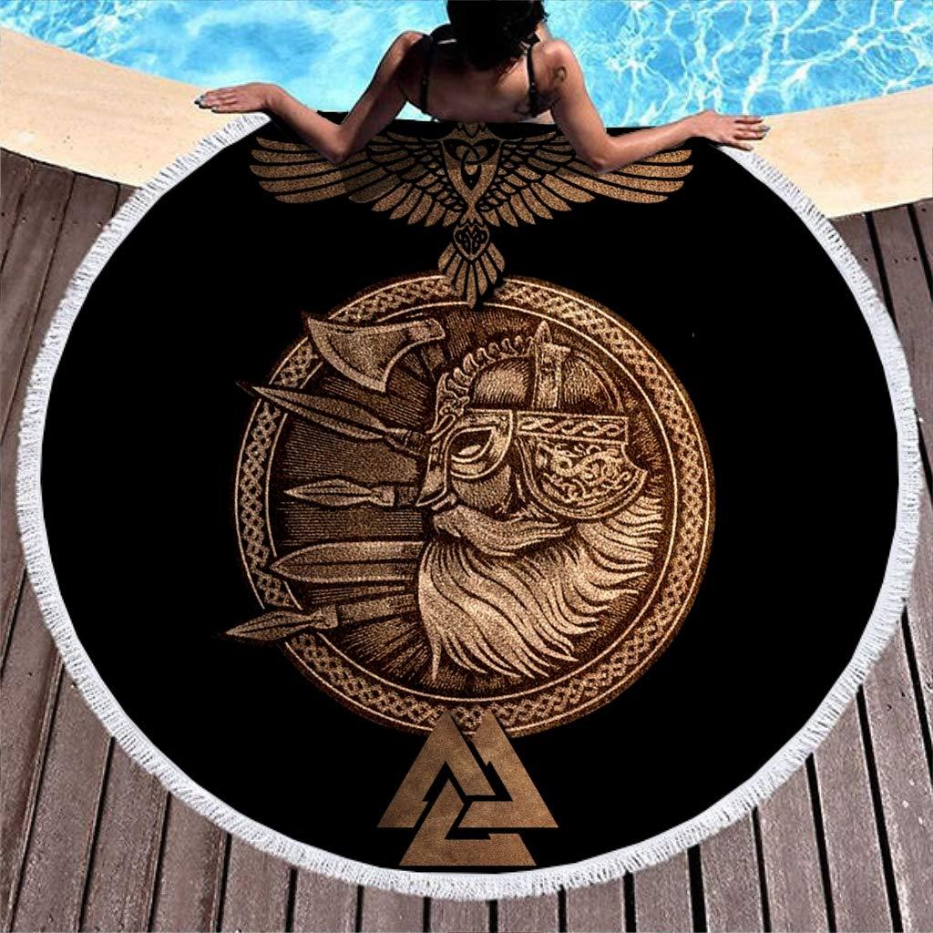 Goldener vikingo Odin guerreros pesados cuervo Valknut tatuaje ...