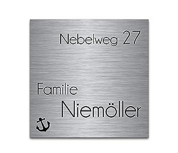 Placa para puerta acero inoxidable con grabado | 1 diseño ...