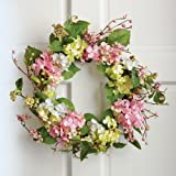 Spring Floral Hydrangea Door Wreath
