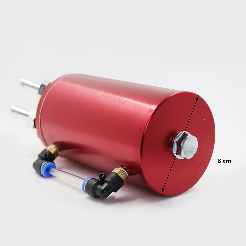 MODAUTO Depósito Aceite de Coche, Decantador de Aceite, Captura de Aceite de Motor, Aluminio Pulido, Redondo, Modelo E080RD, Color Rojo: Amazon.es: Coche y ...