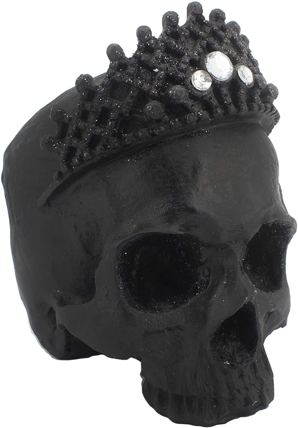 2CFUN Halloween Skull Decor Fake Human Skull Head for Halloween Table Decorations (Black)