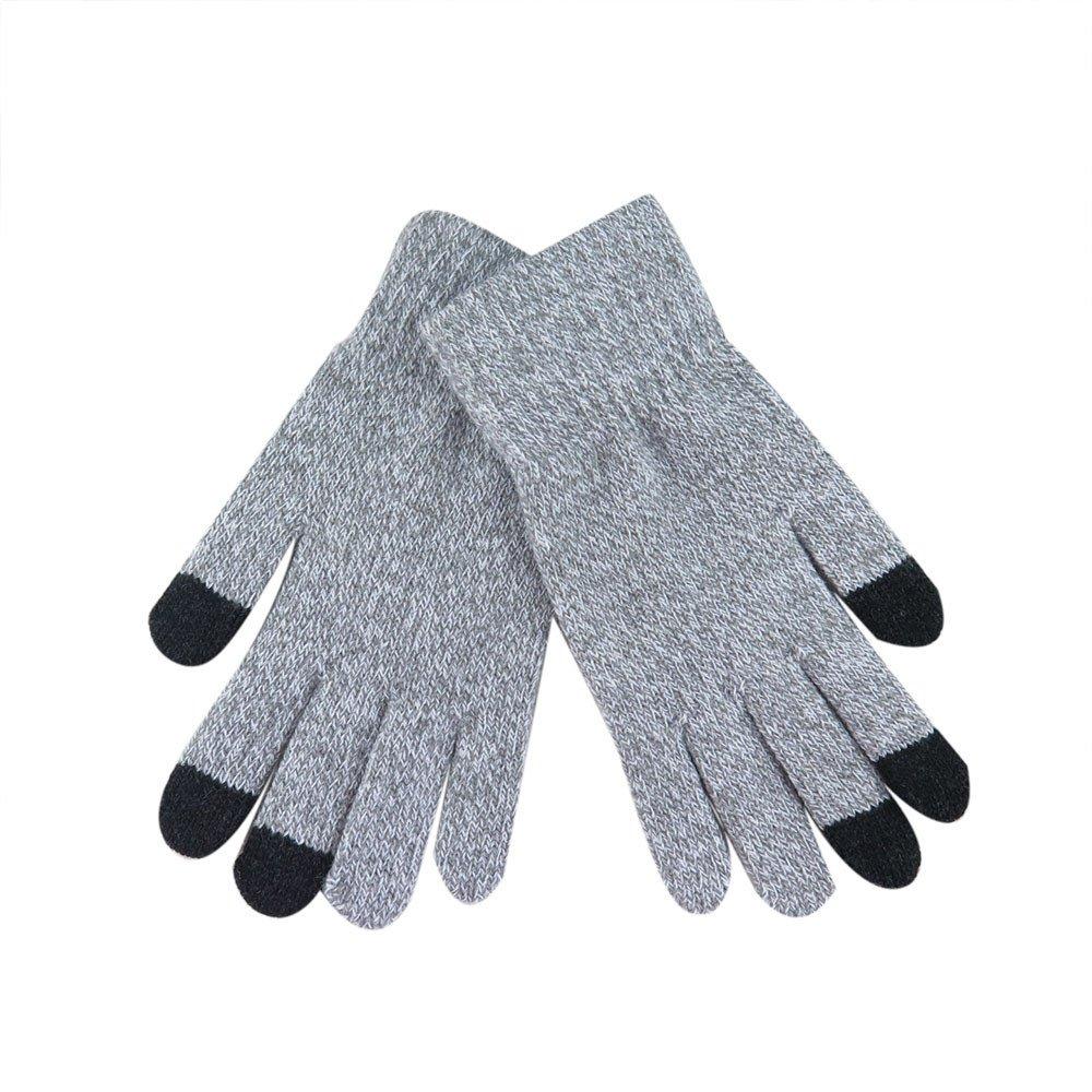 Lanhui Winter Multi-Function Knitted Screen Gloves Soft Warm Mitten for Smart Phone (219CM, Beige)