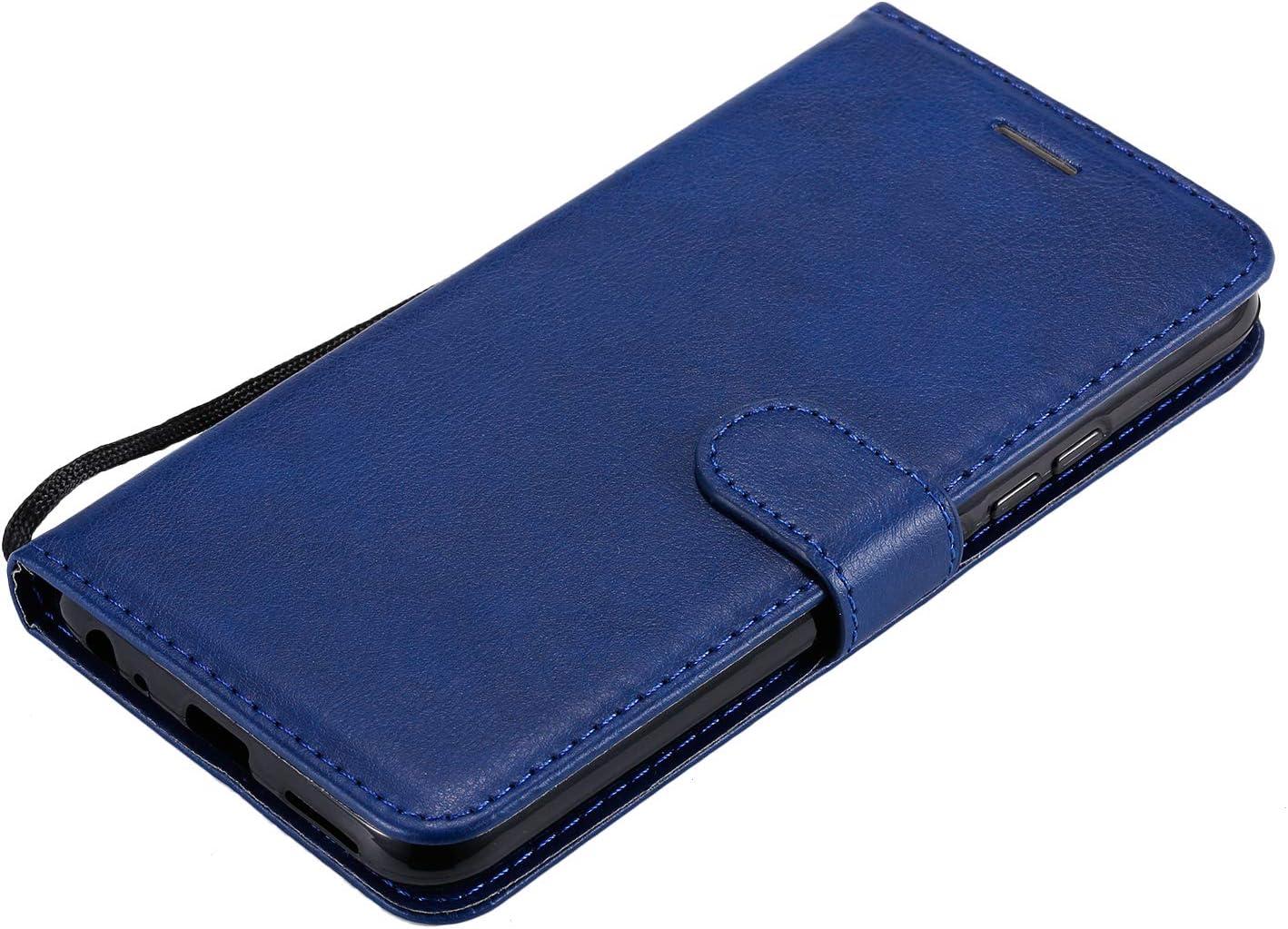 TOKTU100640 Blau Brieftasche Handyh/ülle Klapph/ülle mit Kartenhalter Stossfest Lederh/ülle f/ür Vivo Y15 Tosim Vivo Y15//Y17//Y12//U10//Y3 H/ülle Klappbar Leder