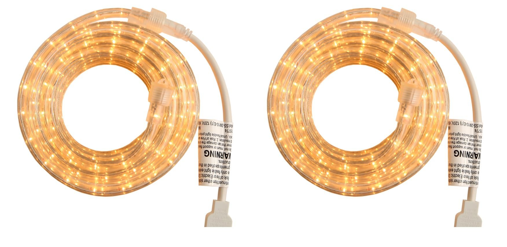 Indoor and Outdoor Rope Lights - 18 Feet, 216 CLEAR Incandescent ...