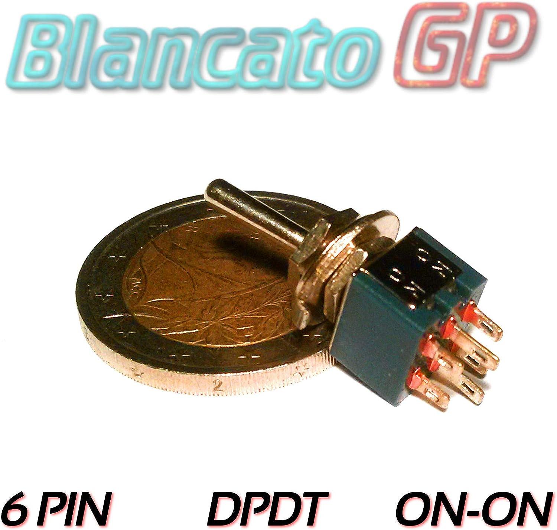 INTERRUTTORE MICRO DPDT ON ON 2 Posizioni 6 PIN leva levetta auto moto deviatore