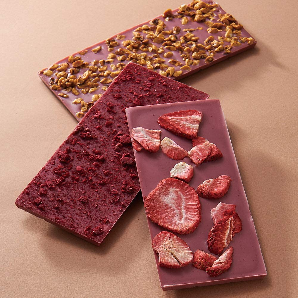 Comptoir du Cacao(コントワール ・ドュ・カカオ)「Ggourmet Bars(グルメバー )ルビーチョコレート3種セット」