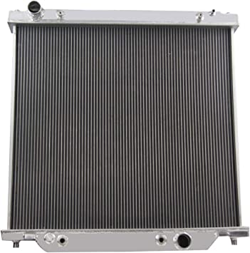 Fans FOR 1999-2005 Ford F250 F350 F450 Super Duty Excursion Aluminum Radiator