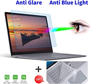 "Surface Laptop 3 13.5"" Screen Protector, Anti Blue Light Screen Protector with Keyboard Cover for Microsoft Surface Laptop 3/Laptop 2 13.5 Inch Laptop Anti Glare Blue Light Screen Filter Protector"