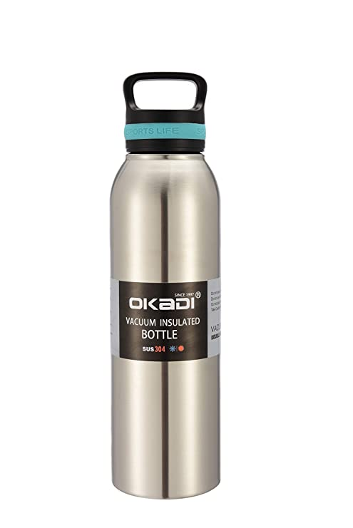 Amazon.com: Okadi - Botella de agua deportiva de doble pared ...