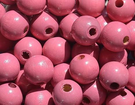 50 pieza cuentas de madera redonda perlas perlas 12 mm ...