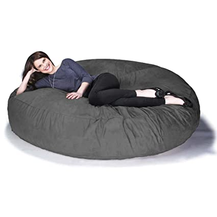 Jaxx 6 Foot Cocoon   Large Bean Bag Chair For Adults, Charcoal
