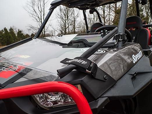 superatv Polaris RZR 1000/RZR 1000 4/RZR Turbo/RZR 900/RZR 900 S/RZR 900 4 Flip Down parabrisas (2014 +) - transparente resistente a los arañazos y claro ...
