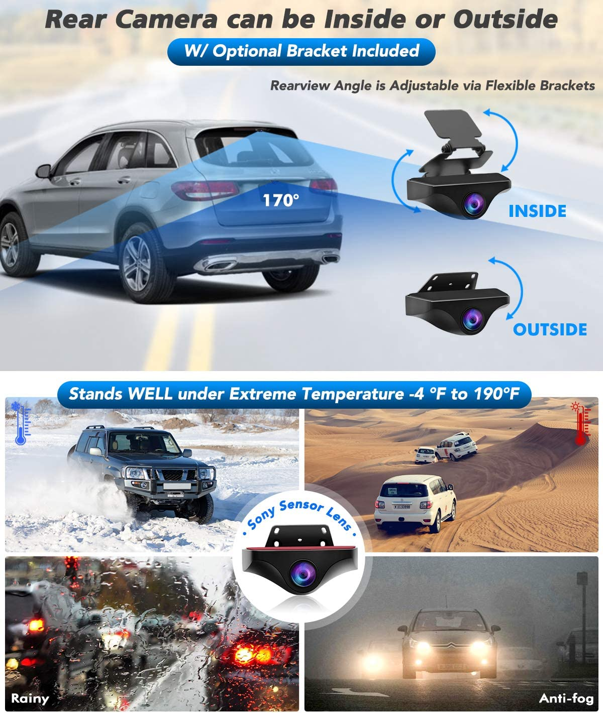 PORMIDO 12 inch Mirror Dash Cam with Split Front Camera 360/°,Anti Glare Touch Screen Full HD 1920P,Car Rear View Backup Camera Dual Lens Sony,Super Night Vision,Parking Monitoring