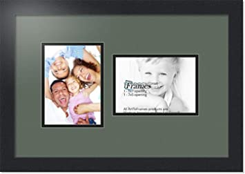 Amazoncom Arttoframes Collage Photo Frame Double Mat With 2 5x7
