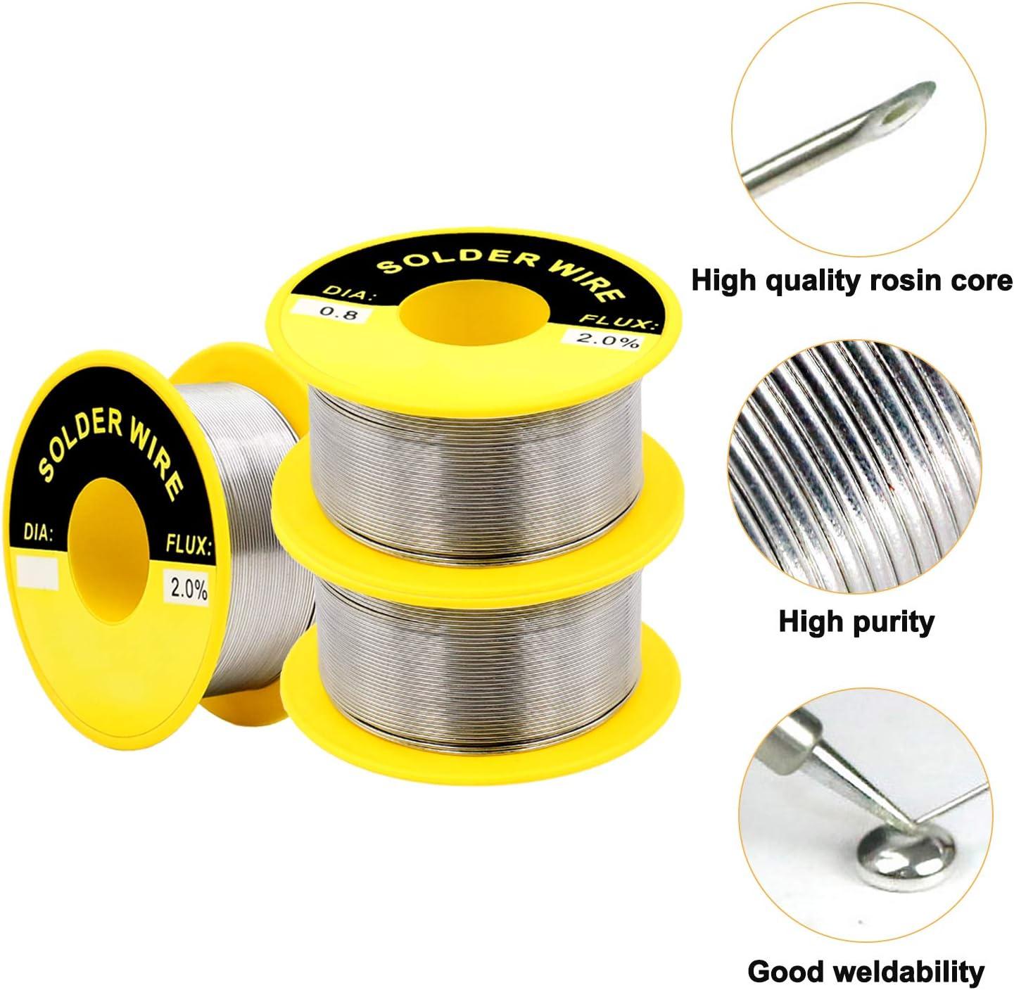 Handy Tin Lead 0.8mm Rosin Core Solder Wire Reel Soldering Durable Set TS #A