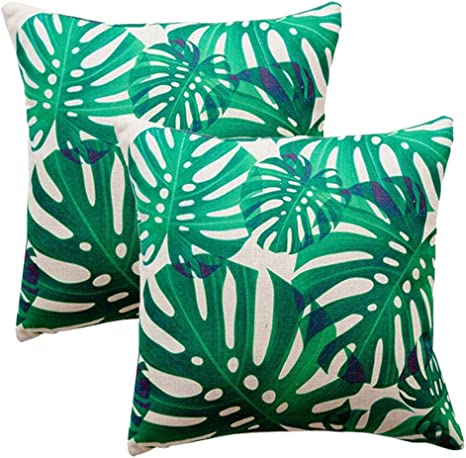 Tropical Palm Leaves Pillow Case Cushion Cover Sofa Throw Bedroom Xmas Decor