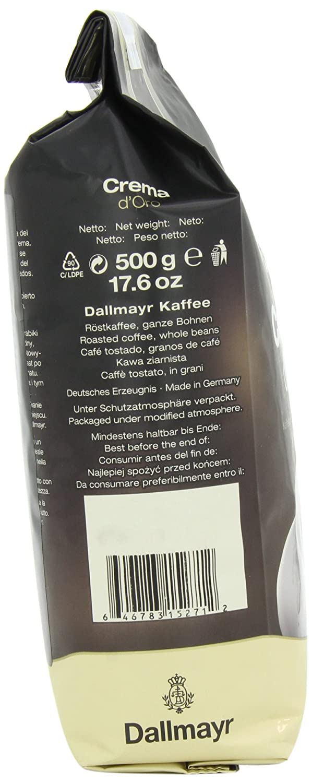 Amazon.com : Dallmayr Crema d\'Oro Whole Bean Coffee, 17.6 Ounce ...