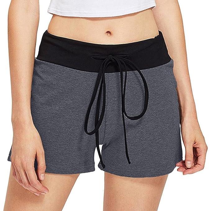 QinMM Pantalones Cortos Pantalones Cortos Deportivos de Yoga ...