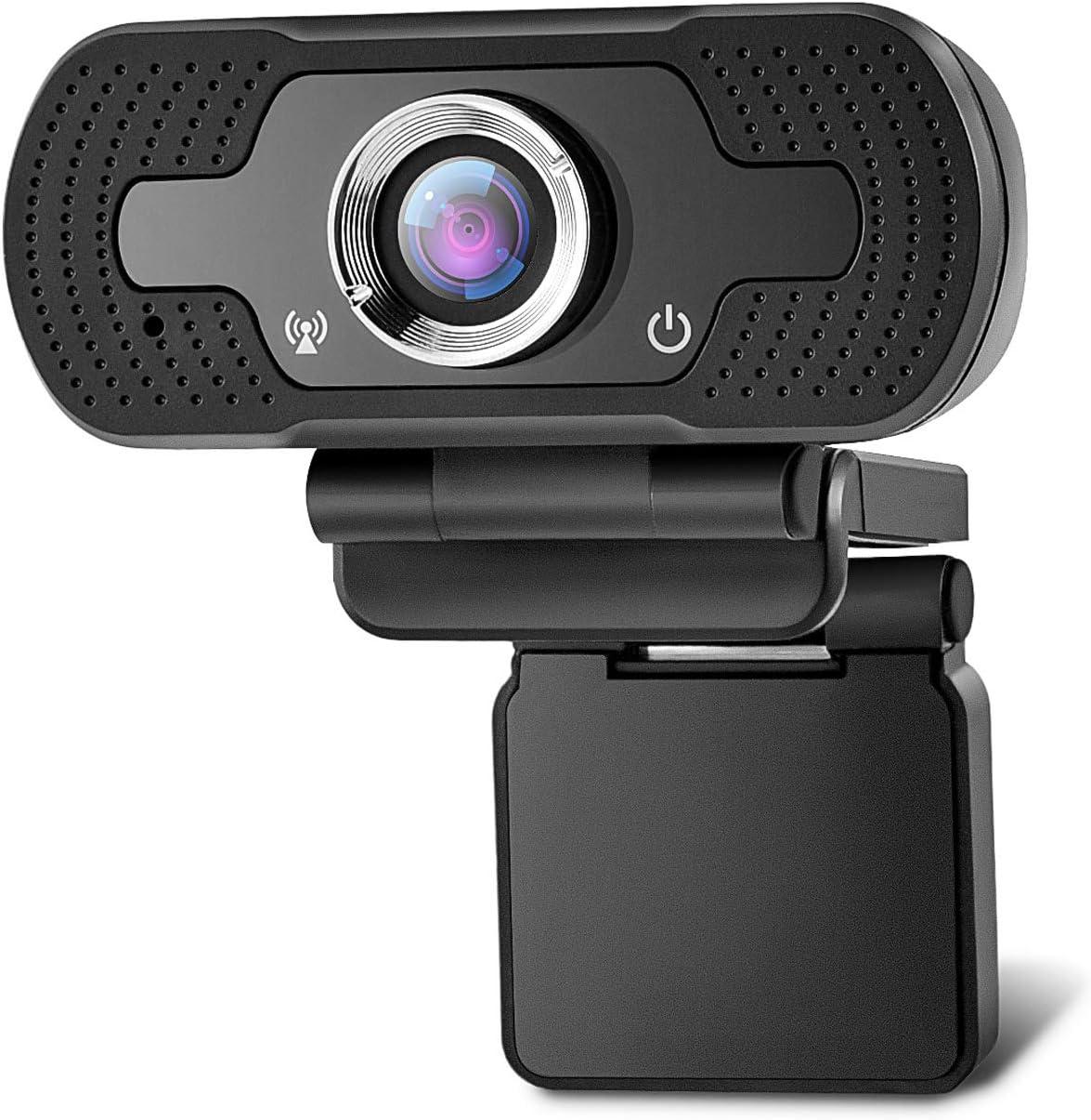 1080p Webcam with Microphone, Noise Reduction HD USB Web Camera for Zoom Meeting YouTube Skype FaceTime Hangouts, PC Mac Laptop Desktop