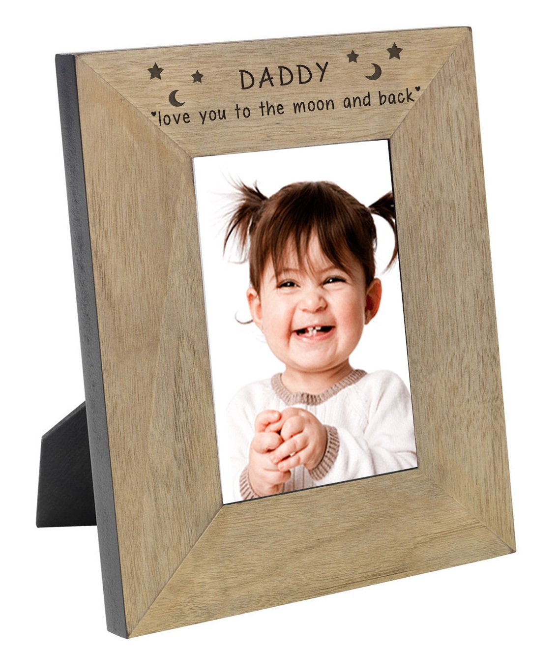 Amazon.de: DADDY Love You To The Moon And Back Eiche Furnier ...
