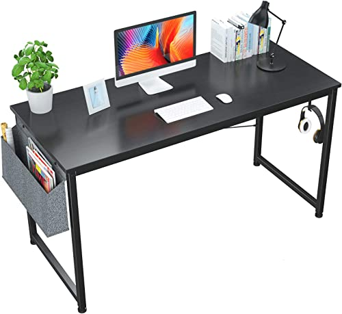 Editors' Choice: Foxemart 55″ Computer Desk Modern Sturdy Office Desk 55 Inch Writing Study Desk Simple PC Laptop Notebook Table