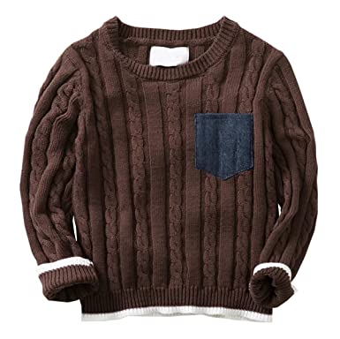 Amazon Betusline Kids Baby Boys Knitted Crewneck Pullover