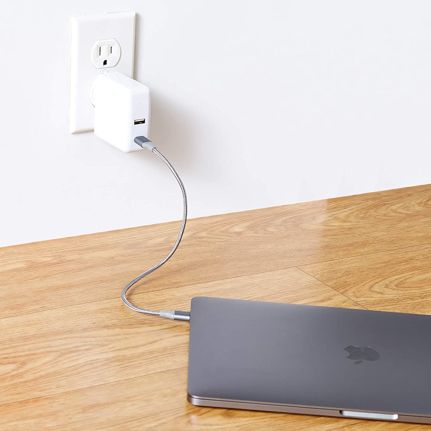 Black Basics 5-Port Wall Charger with 4 USB-A Ports and 1 USB-C Port with 30W Power Delivery 60W