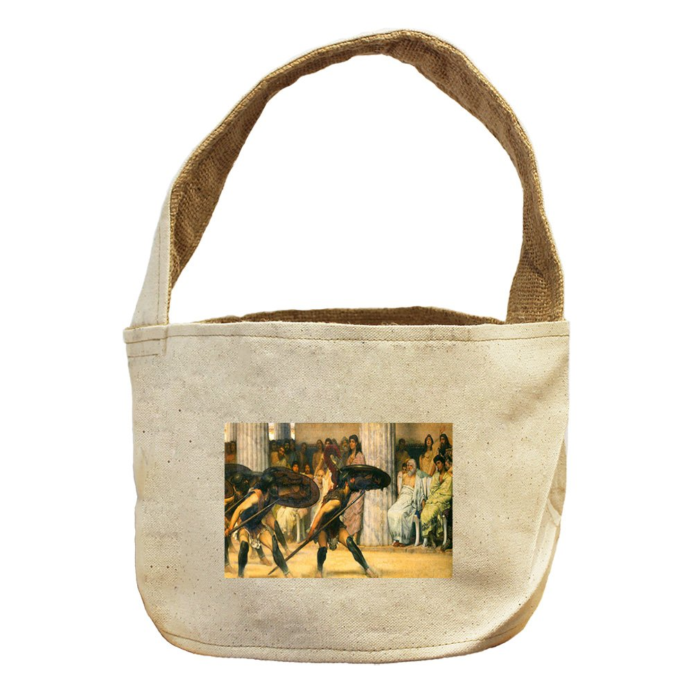 Style in Print A Dance For Phyrrus (Alma Tadema) Canvas and Burlap Storage Basket Basket