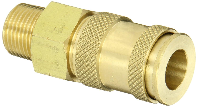 1//4 Coupler x 3//8 NPT Male Thread Dixon Valve /& Coupling Valve DC2103 Brass Air Chief Industrial Interchange Quick-Connect Air Hose Socket 37 CFM Flow Rating