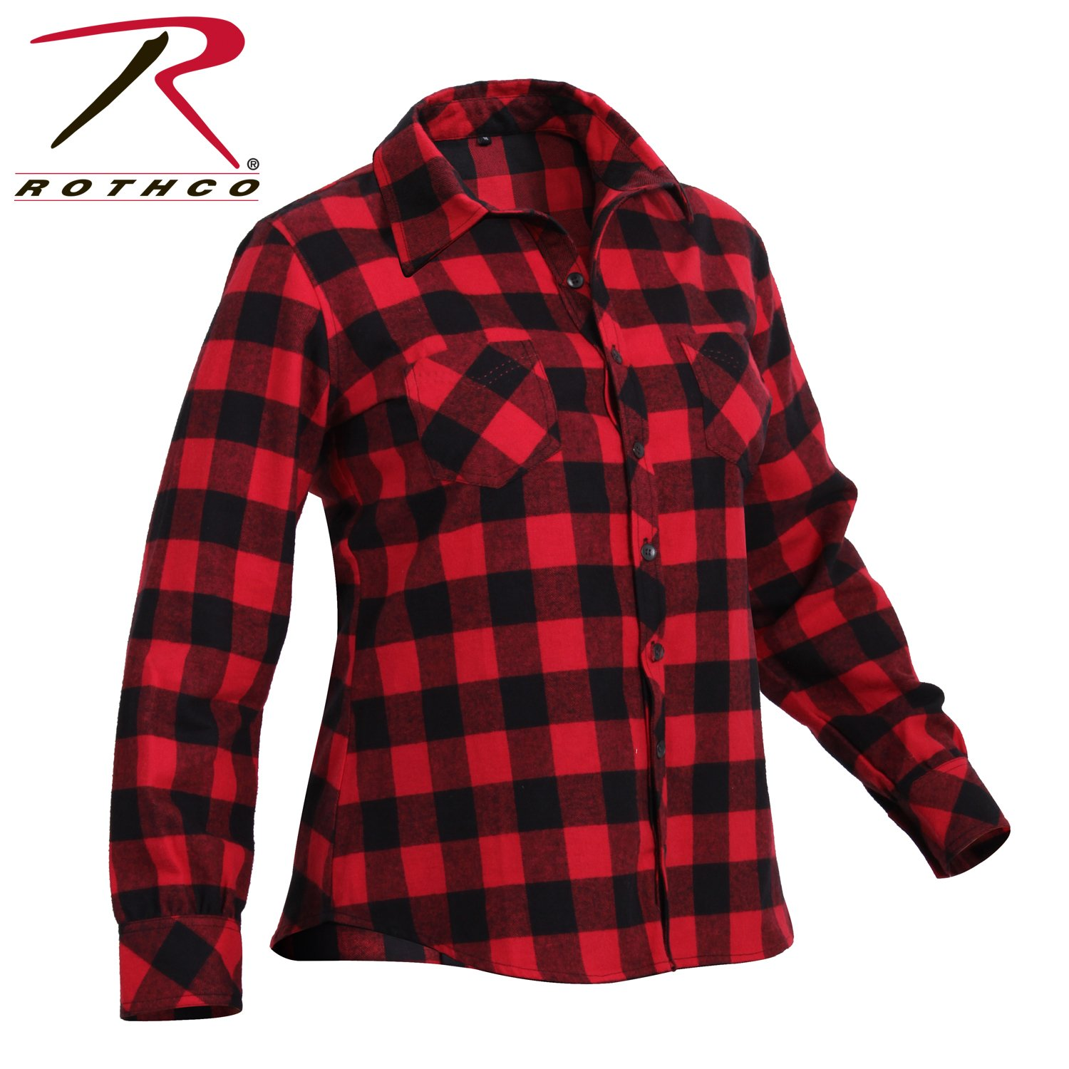Rothco Womens Plaid Flannel Shirt, 2XL, Red/Black by Rothco