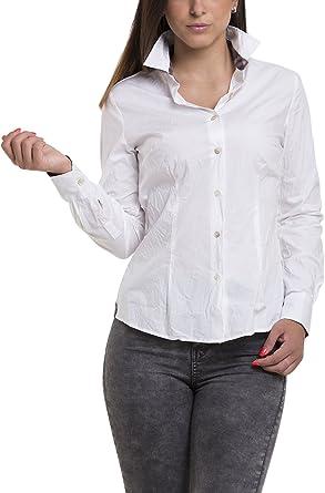 Atelier Boldetti - Camisa Blanca para Mujer con Efecto ...