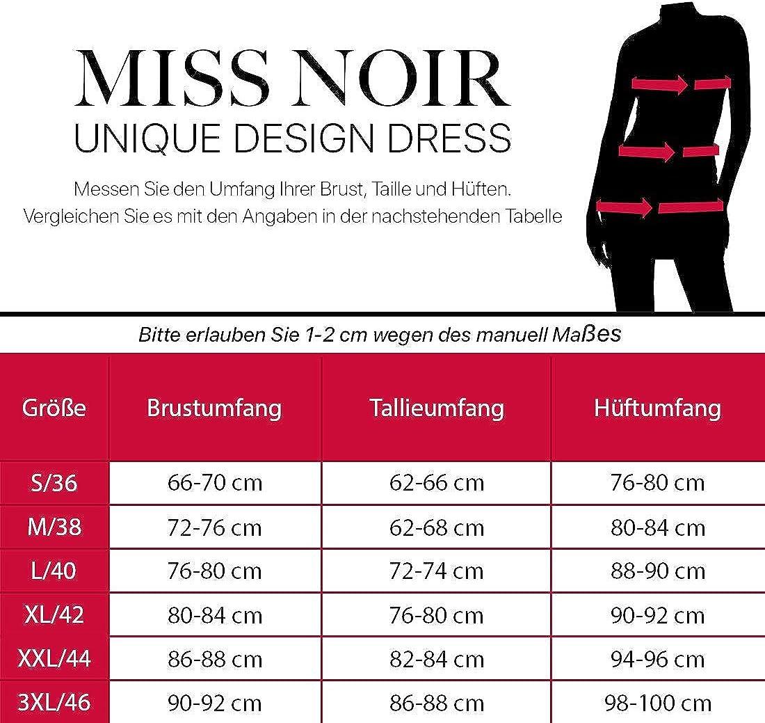 Miss Noir con chiusura lampo bidirezionale Mini abito da donna in effetto bagnato S-3XL