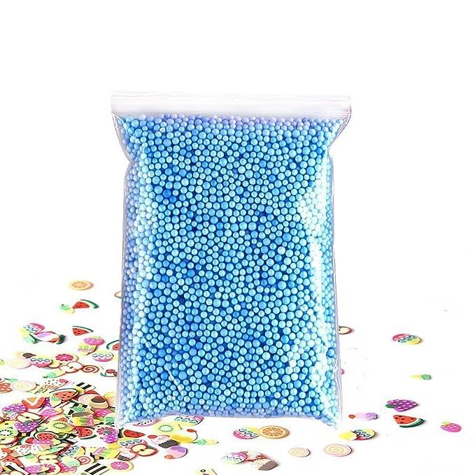 Nrpfell 22pack Limo Hacer Kits de insumos, Cuentas de pecera, Espuma de Bolas, Glitter tarros, Accesorios de Bricolaje casero del Arte del Arte de Limo, ...