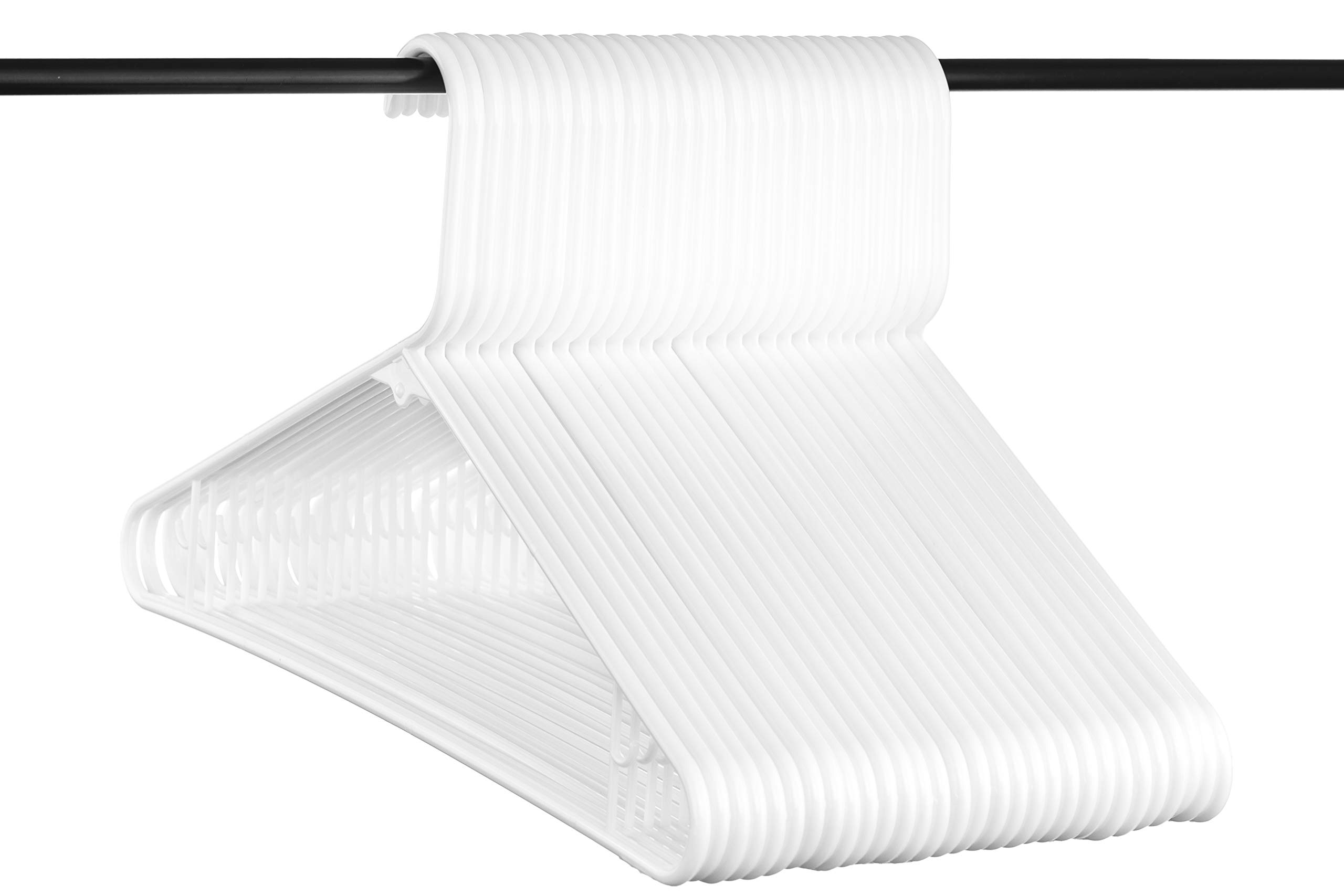 Neaties American Made White Plastic Hangers with Bar Hooks, Plastic Clothes Hangers Ideal for Everyday Use, Clothing Standard Hangers, 30pk by Neaties