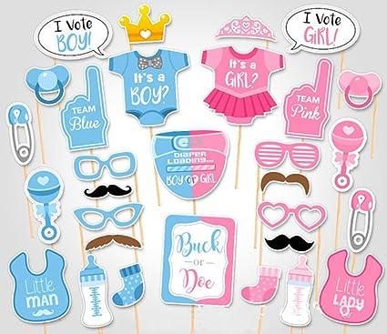 amazon com rainlemon tm gender reveal party boy or girl photo