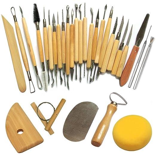 3 opinioni per Cozyswan Ceramiche di alta qualità Attrezzi Sculpting Tool (30Pcs)