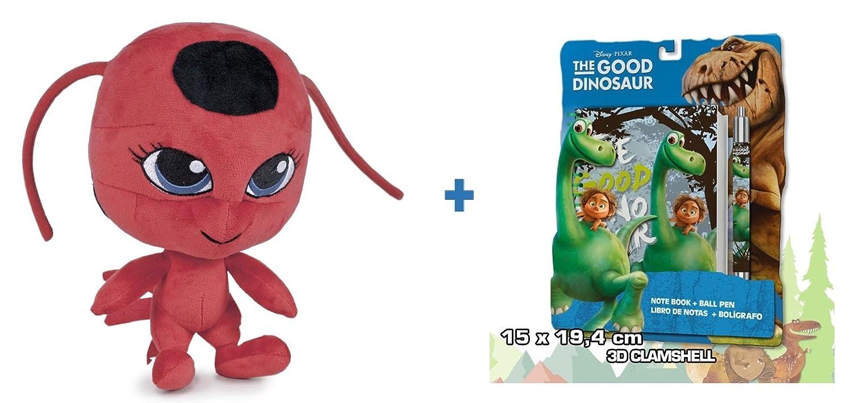 Prodigiosa: Las aventuras de Ladybug: Peluche TIKKI 27cm + Set de papelería El viaje de Arlo.: Amazon.es: Juguetes y juegos