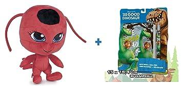 Prodigiosa: Las aventuras de Ladybug: Peluche TIKKI 27cm + Set de papelería El viaje