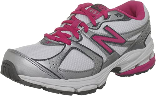 New Balance 633, Zapatillas de Running Para Niñas, Blanco (White/Silver/Pink), 4.5 UK Youth: Amazon.es: Zapatos y complementos