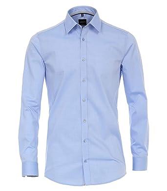 aad3c6177a Venti - Body Fit - Herren Hemd mit Kent-Kragen in weiß oder Pflaume ...