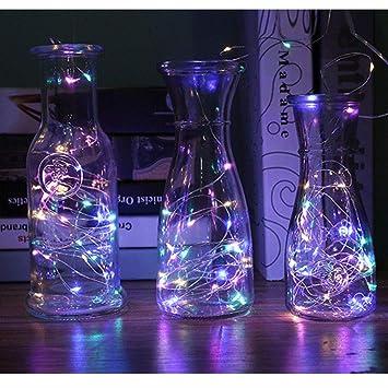 Lovely Battery Power 2m 20led Glass Wine Led String Light Cork Shaped Bistro Wine Bottle Stopper Light Lamp Christmas Party Decoration Be Friendly In Use Home & Garden