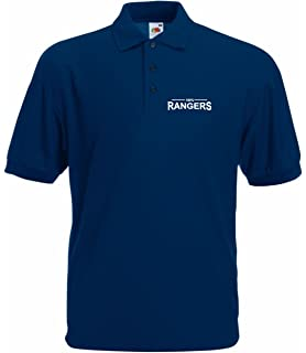 Rangers FC Official Football Gift Mens Crest Polo Shirt  Amazon.co ... 91a9321f6