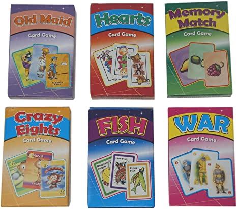 Go Fish Memory Match 3-Pack Kids Card Games Crazy Eights