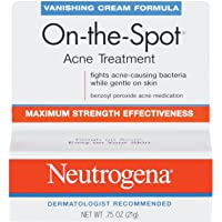 Neutrogena On-The-Spot Acne Treatment Vanishing Cream Formula 0.75 Oz (Pack Of 2)