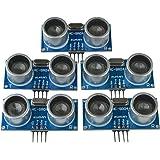 Kuman 5pcs Hc-sr04 Ultrasónico Medición de distancia Módulo Sensor Para Arduino UNO Mega R3 Mega2560 Duemilanove Nano Robot XBee ZigBee K18