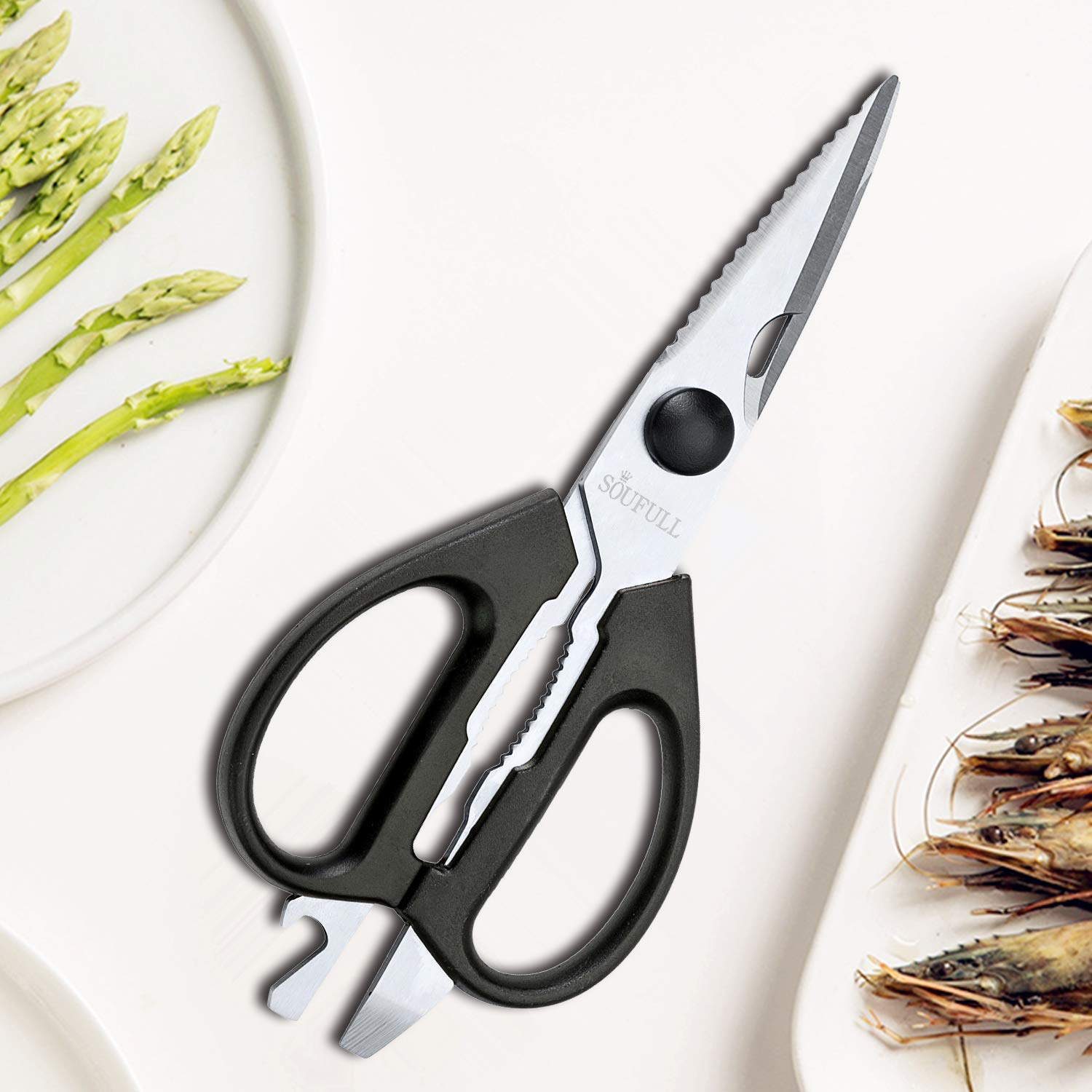 Soufull Heavy Duty Multi Purpose Kitchen Scissors for Chicken,Poultry,Meat-Come-Apart Sharp Shears by Soufull (Image #7)