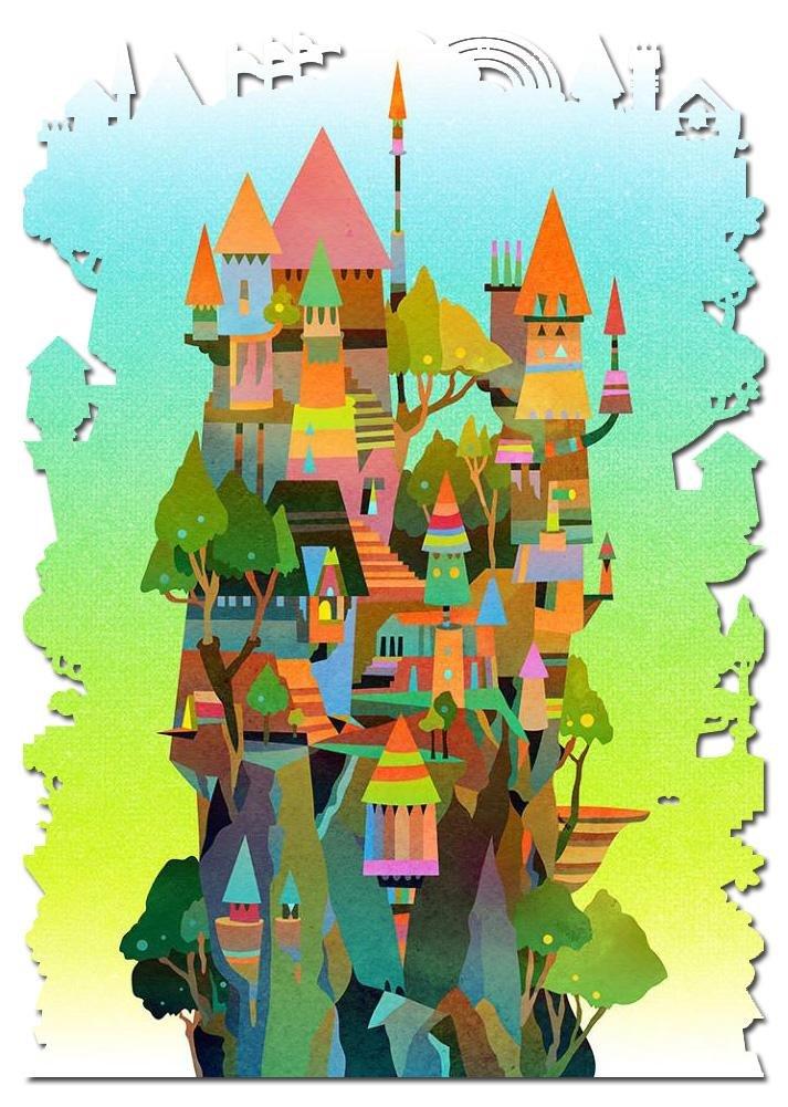 Artifact Puzzles - Matt Lyon Monastery Wooden Jigsaw Puzzle
