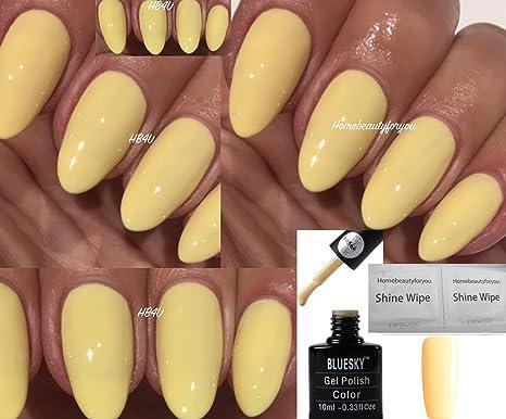 Bluesky Primrose Yellow 80566 Lemon Pastel Nail Gel Polish UV LED ...